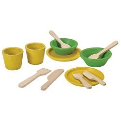 Platos y cubiertos Plan Toys