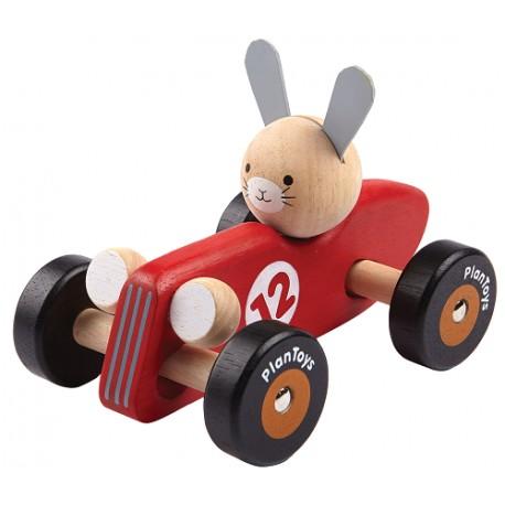 """Cotxe de carreres """"conill"""" Plan Toys"""